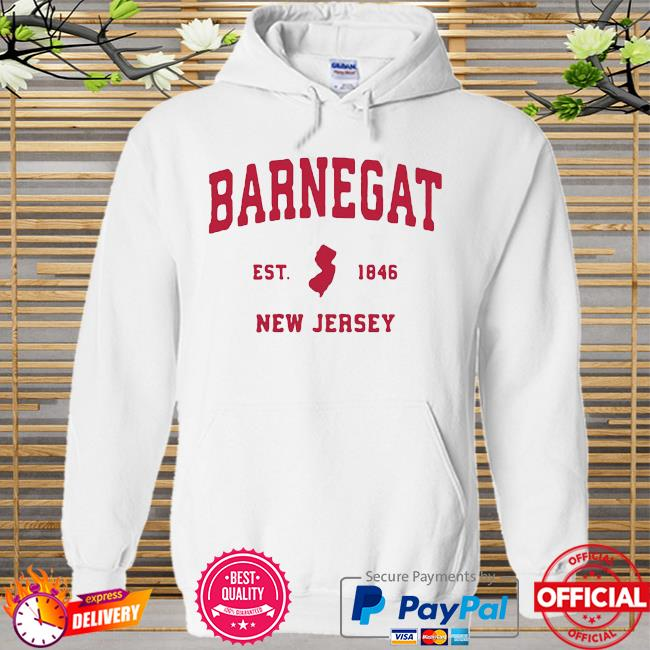 Barnegat New Jersey 1846 NJ Vintage Sports Shirt Hoodie white