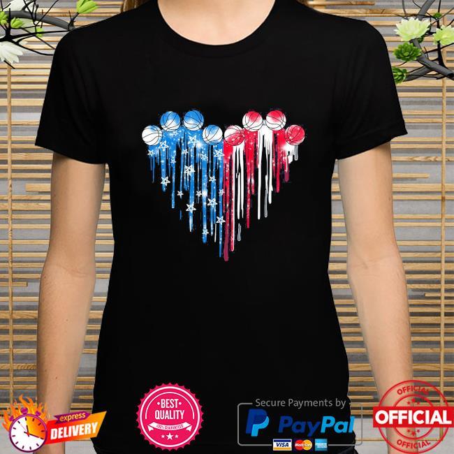 Basketball Heart American flag shirt