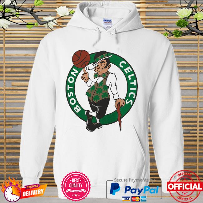 Boston celtics fanatics branded primary team logo Hoodie white