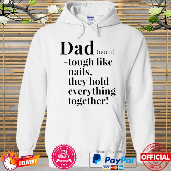 Father's Days Dad definition noun Hoodie white