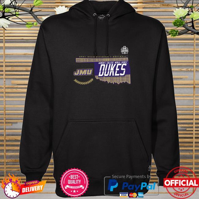 James madison dukes 2021 ncaa softball women's college world series bound bunt hoodie