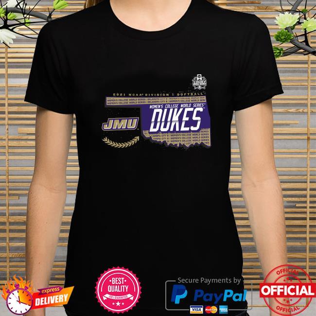 James madison dukes 2021 ncaa softball women's college world series bound bunt shirt