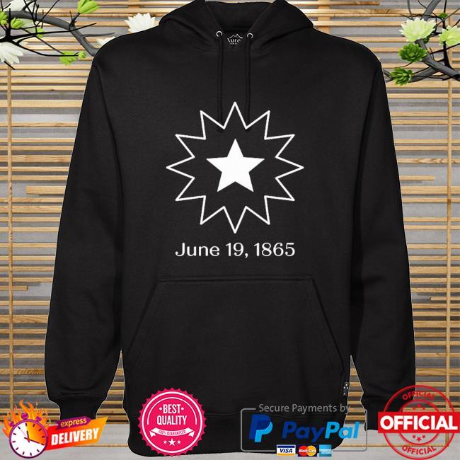 Juneteenth symbol 19 1865 hoodie