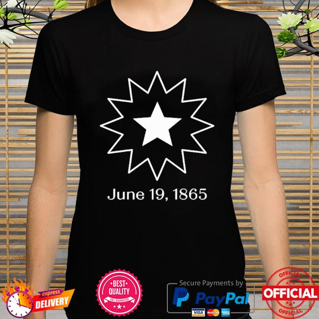 Juneteenth symbol 19 1865 shirt