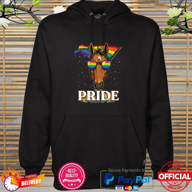Lgbt Horse Gay Pride Lgbtq Rainbow Flag Sunglasses Shirt hoodie