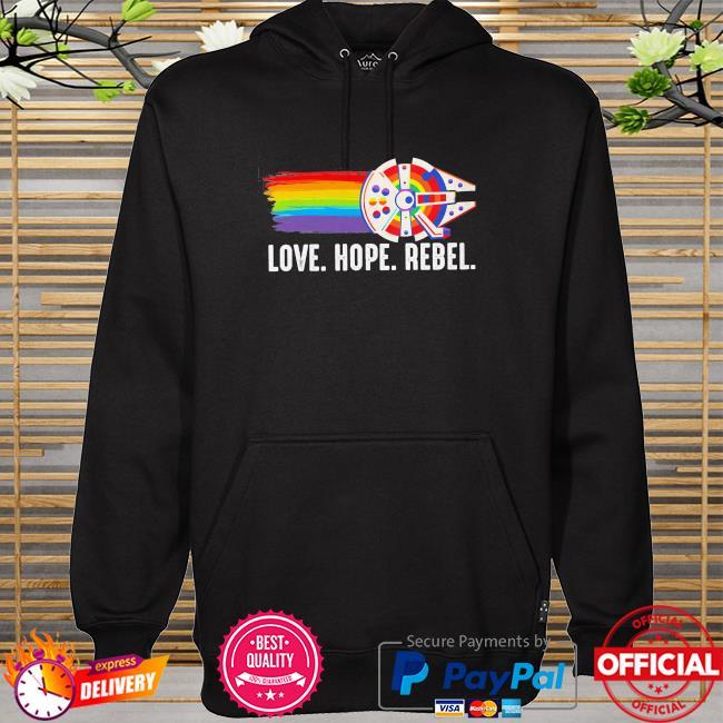 LGBT love hope rebel hoodie