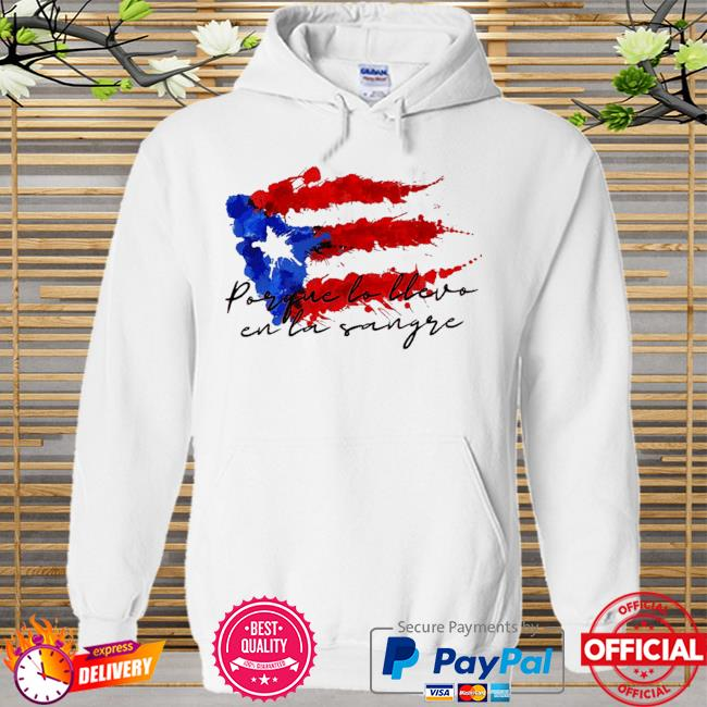 Llevo en la sangre American flag Hoodie white