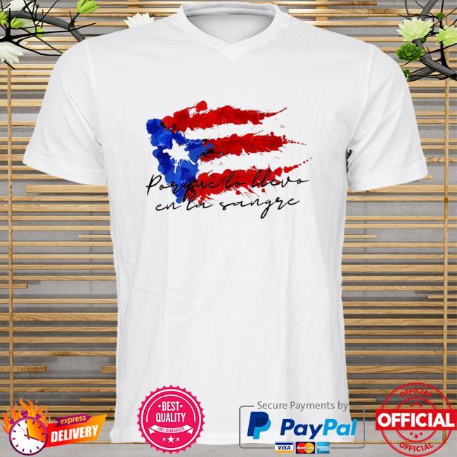 Llevo en la sangre American flag shirt