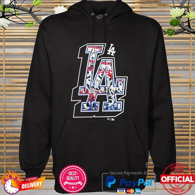 Los angeles dodgers team logo hometown hoodie