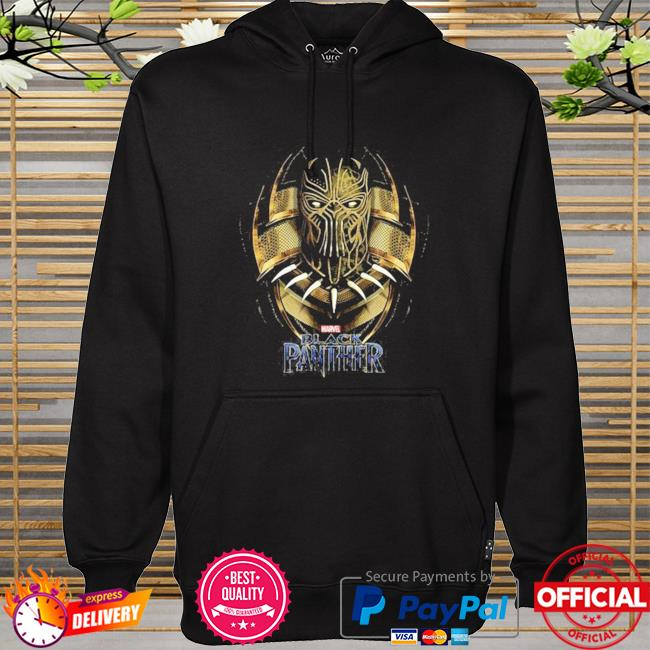Marvel Black Panther movie killmonger golden jaguar hoodie