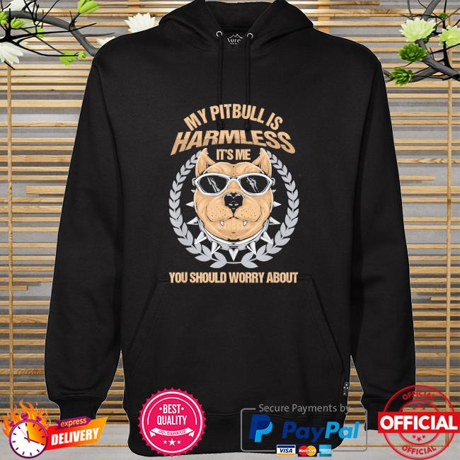 My Pitbull is harmless it's me you should worry about hoodie