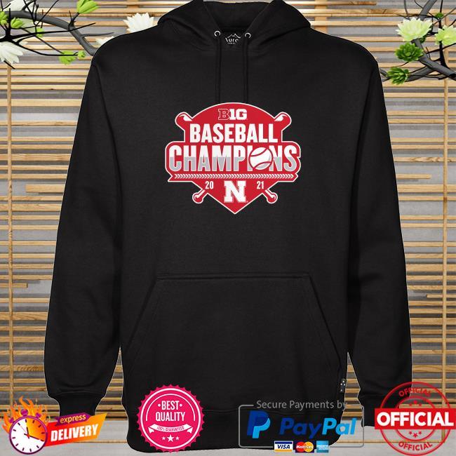 Nebraska huskers 2021 big ten baseball conference champions hoodie