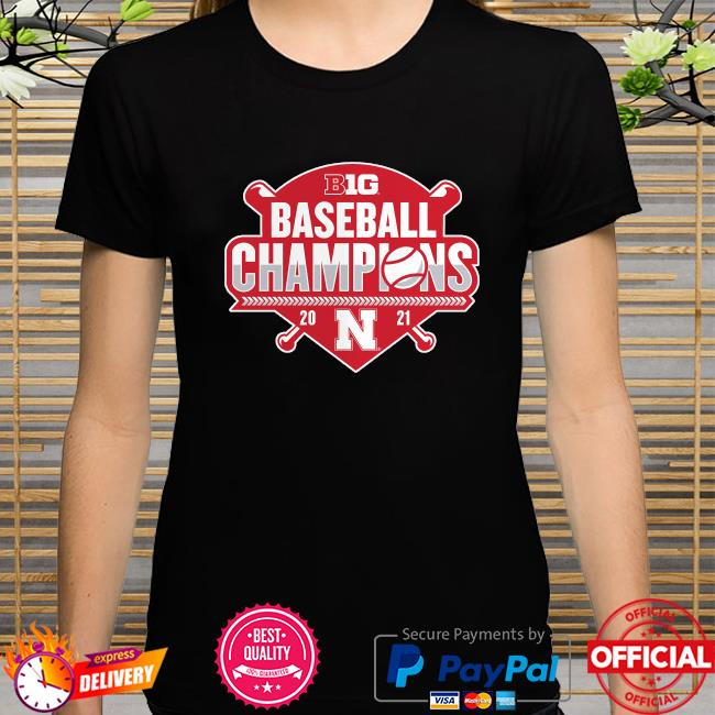 Nebraska huskers 2021 big ten baseball conference champions shirt