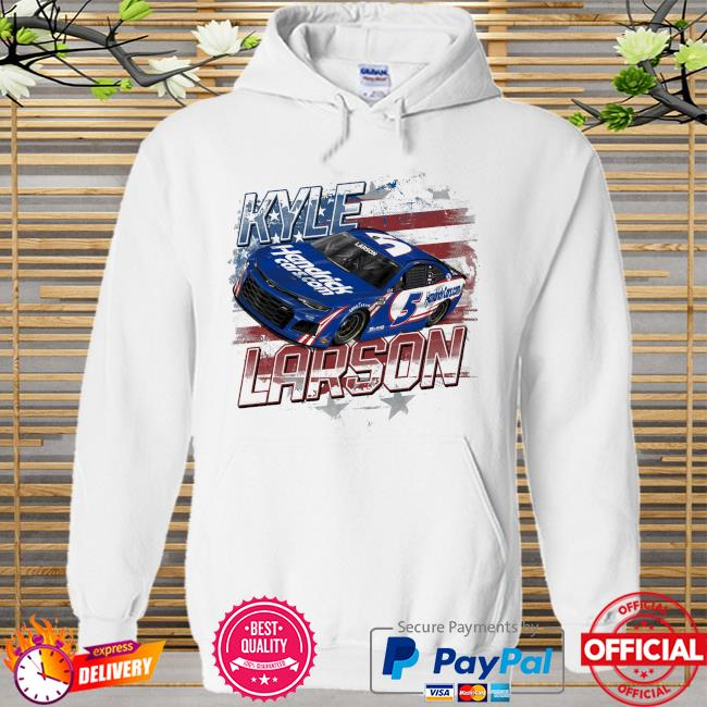 Kyle larson hendrick motorsports team collection old glory Hoodie white