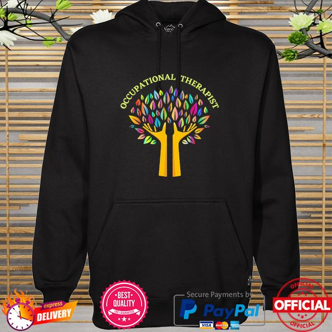 Occupational therapist ot therapy special needs rainbow tree hoodie