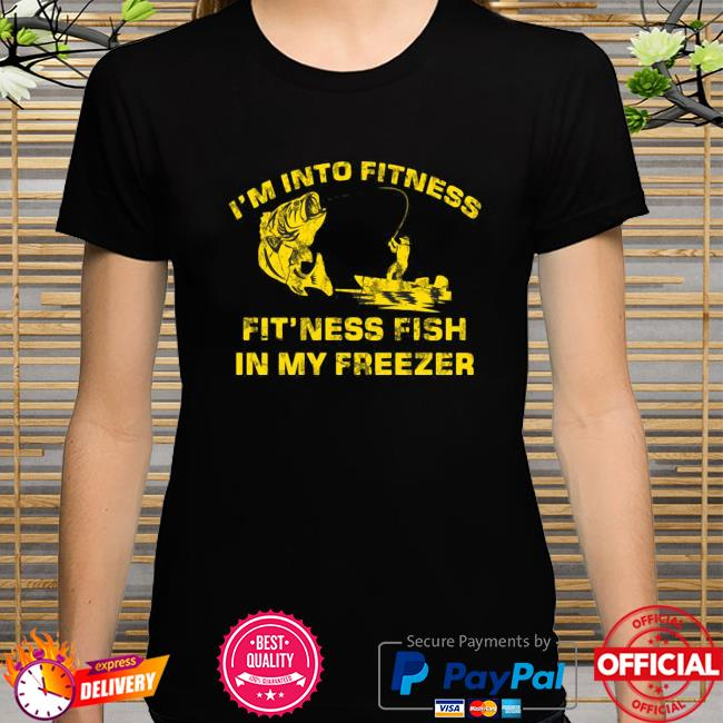 Official Bass I'm Into Fitness Fitness Fish In My Freezer Shirt