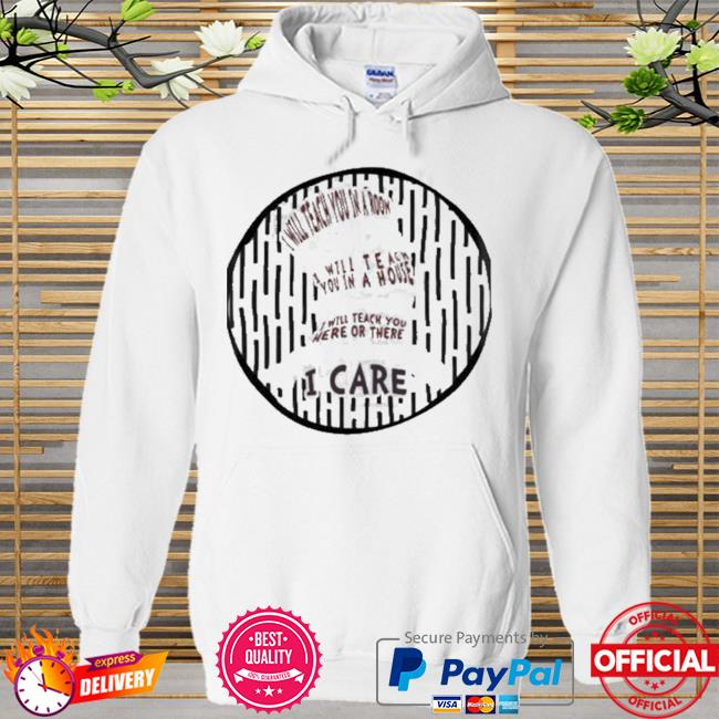 I will teach you in a room will teach you in a house teach you here or there i care dr seuss Hoodie white