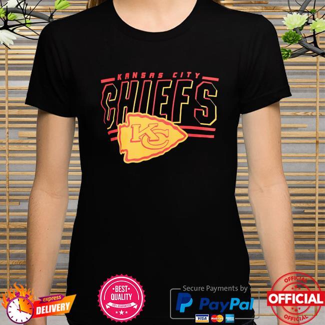 Junk food clothing Kansas city Chiefs black team slogan short sleeve fashion shirt