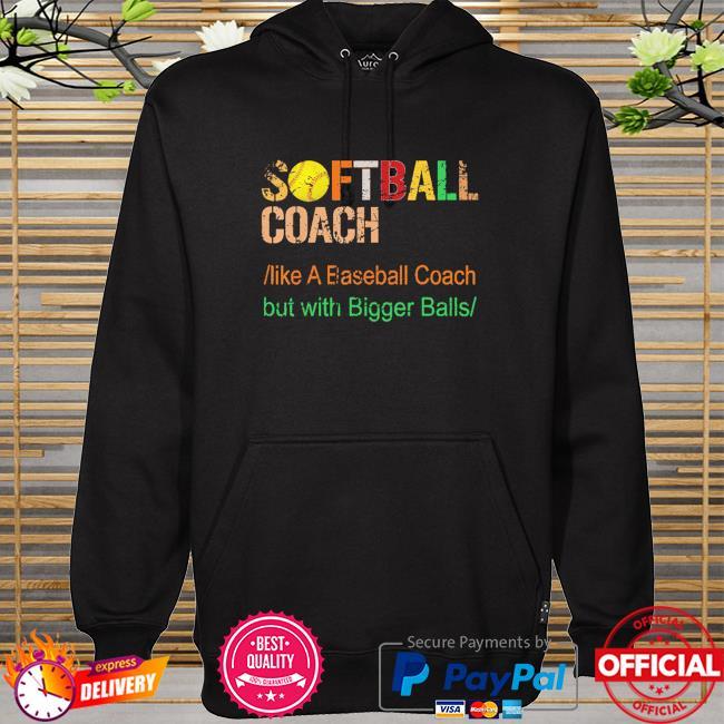 Softball coach like a baseball coach but with bigger balls hoodie