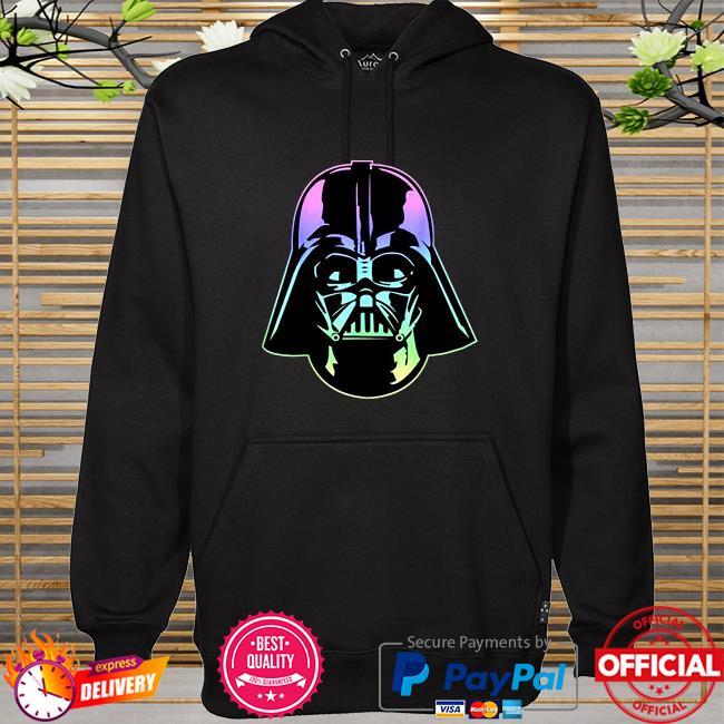 Star wars darth Vader head neon gradient hoodie