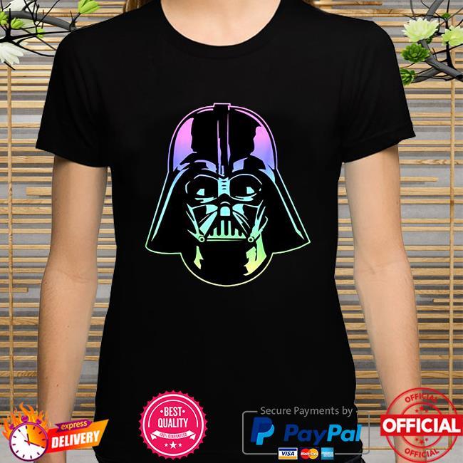 Star wars darth Vader head neon gradient shirt
