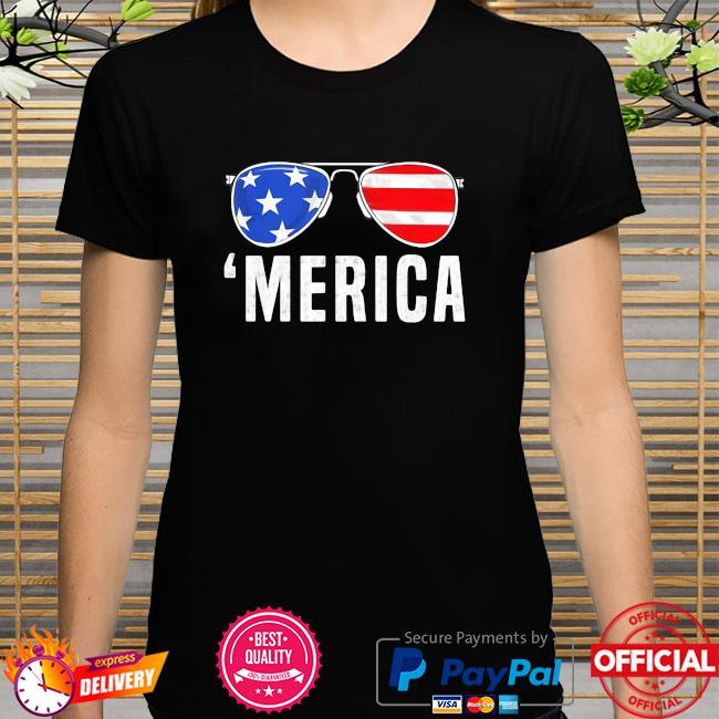 Sunglasses 4th Of July Merica American Flag Shirt