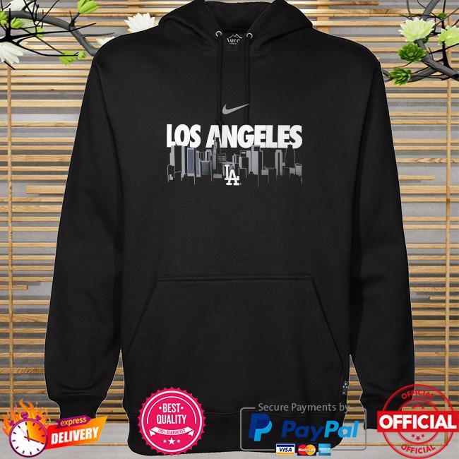 Los angeles dodgers nike local skyline legend performance hoodie