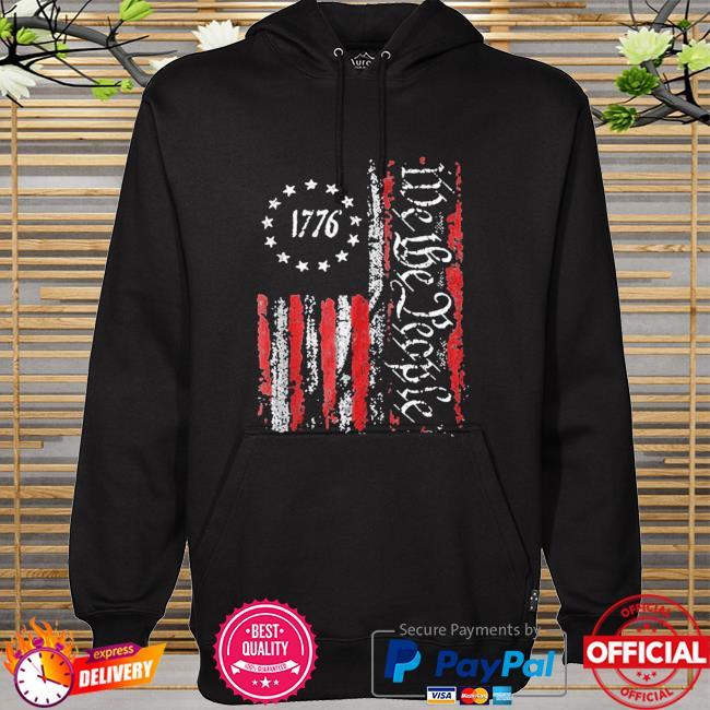 Vintage old American flag patriotic 1776 we the people hoodie