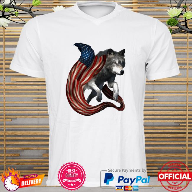 Wolf Cool And Freedom Wolf Lovers American Flag shirt