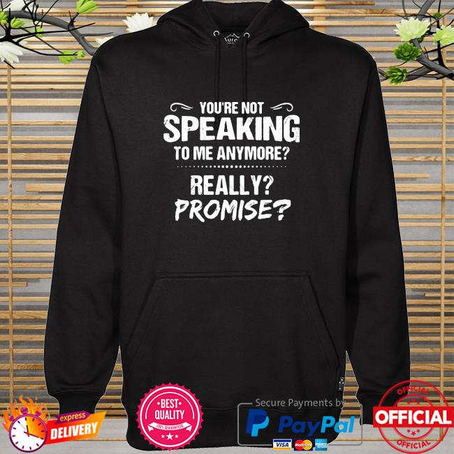 You're Not Speaking To Me Anymore Really Promise hoodie