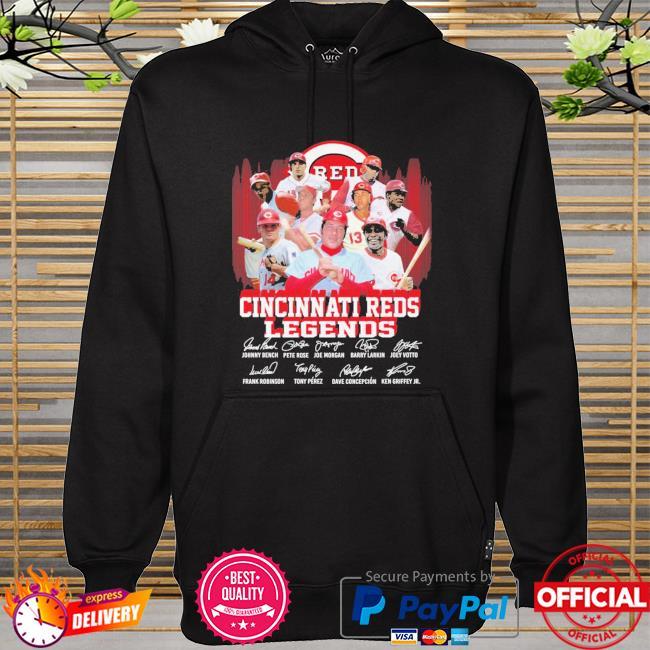 Cincinnati Reds Legends player team signatures hoodie