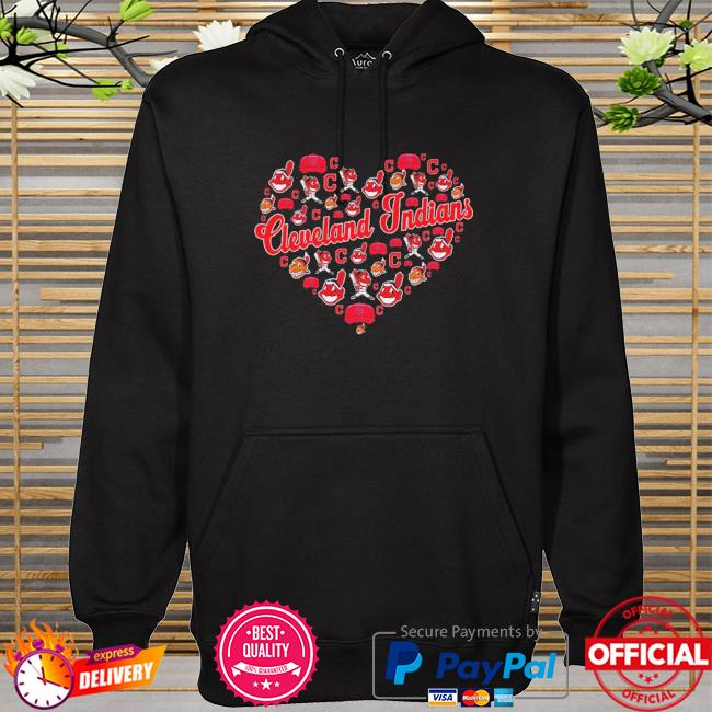 Cleveland indians heart hoodie