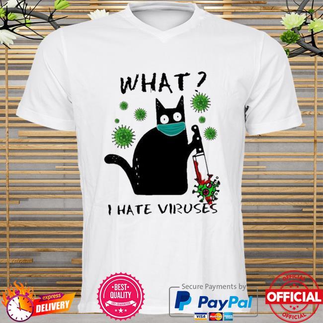 Michael Myers Black Cat what I hate Viruses shirt
