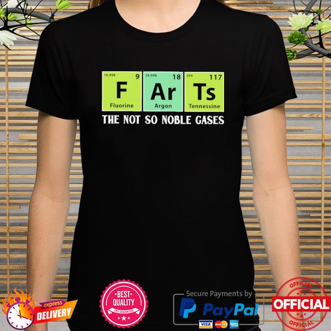 Official dart the not noble gases shirt