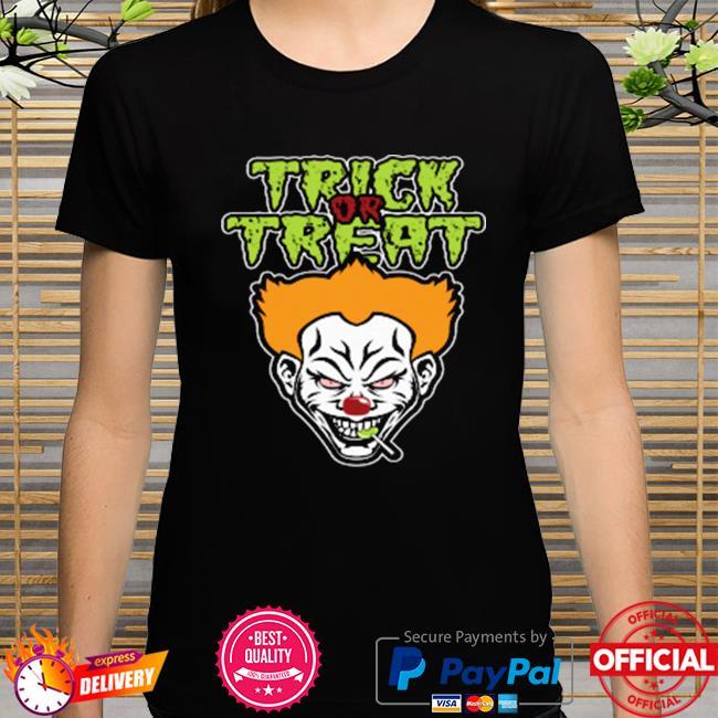 Evil Clown Halloween Scary Trick Or Treat Shirt