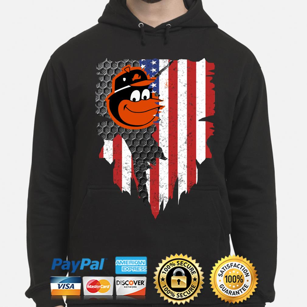 Baltimore Orioles Inside American Flag Shirt hoodie