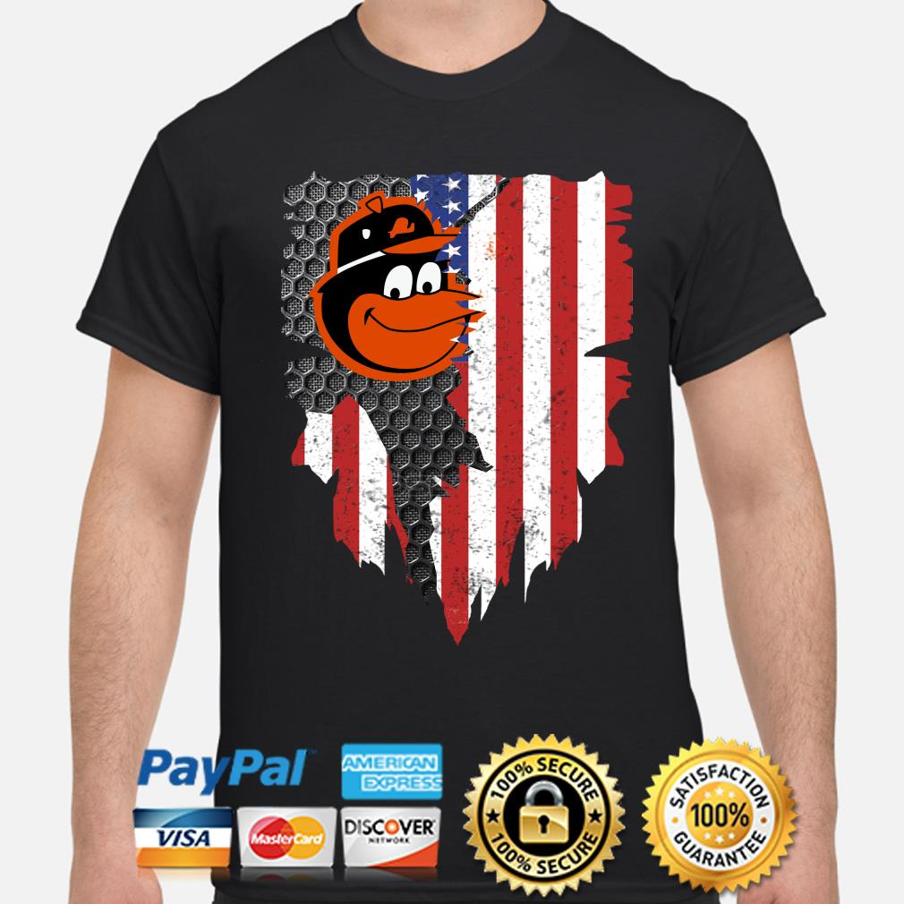 Baltimore Orioles Inside American Flag Shirt