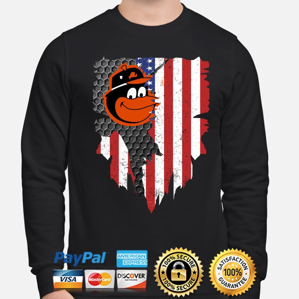 Baltimore Orioles Inside American Flag Shirt sweater