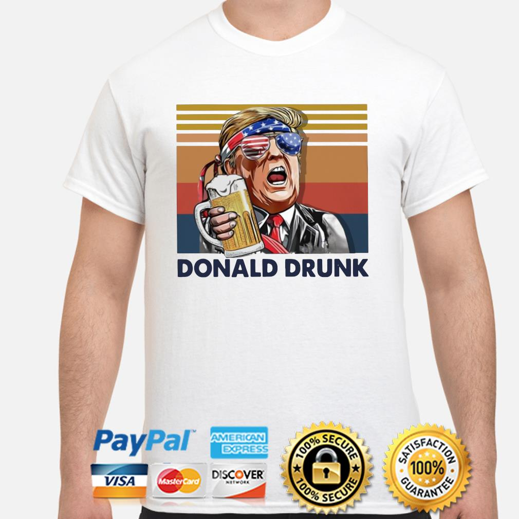 Donald drunk vintage shirt