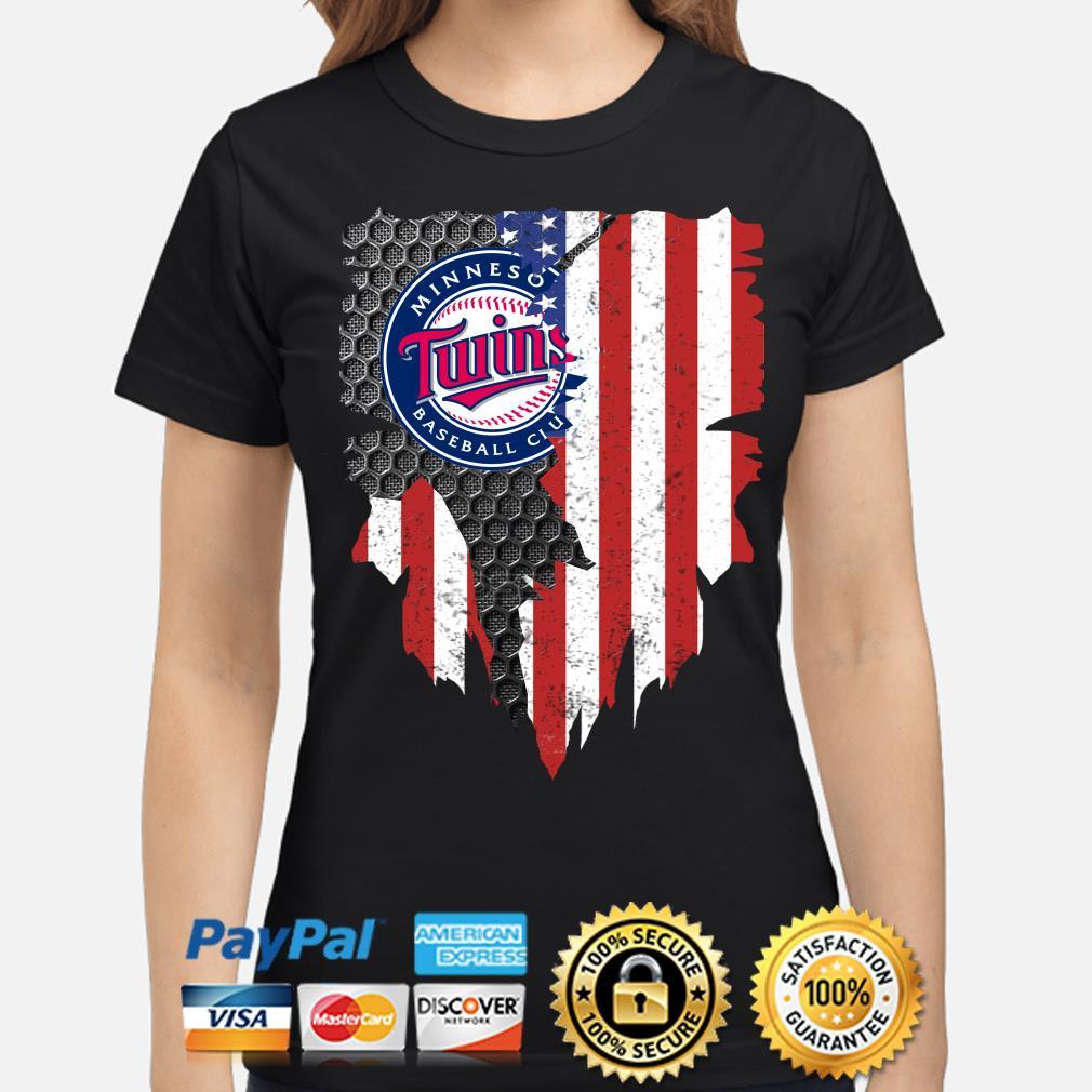 Minnesota Twins Inside American Flag Shirt ladies-shirt