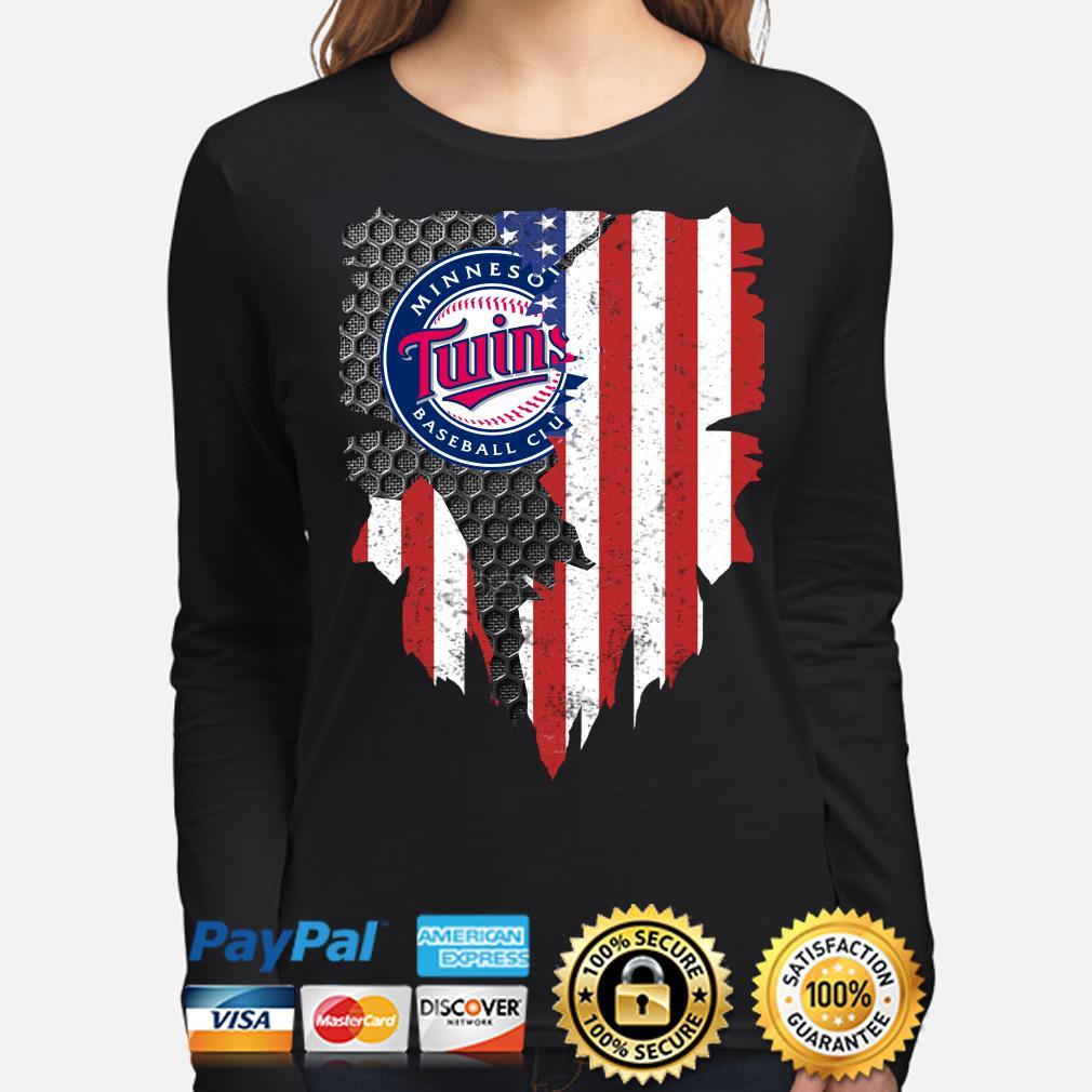 Minnesota Twins Inside American Flag Shirt long-sleeve