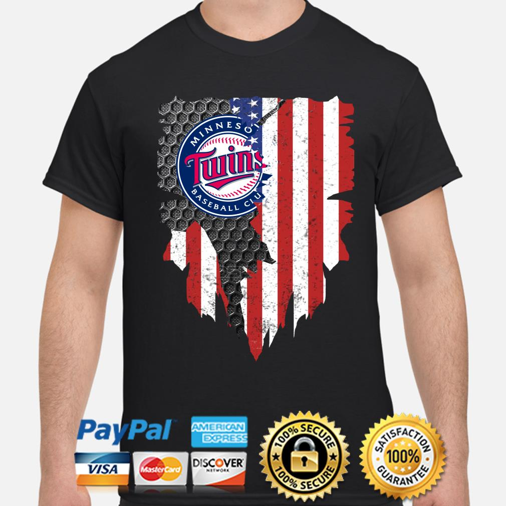 Minnesota Twins Inside American Flag Shirt