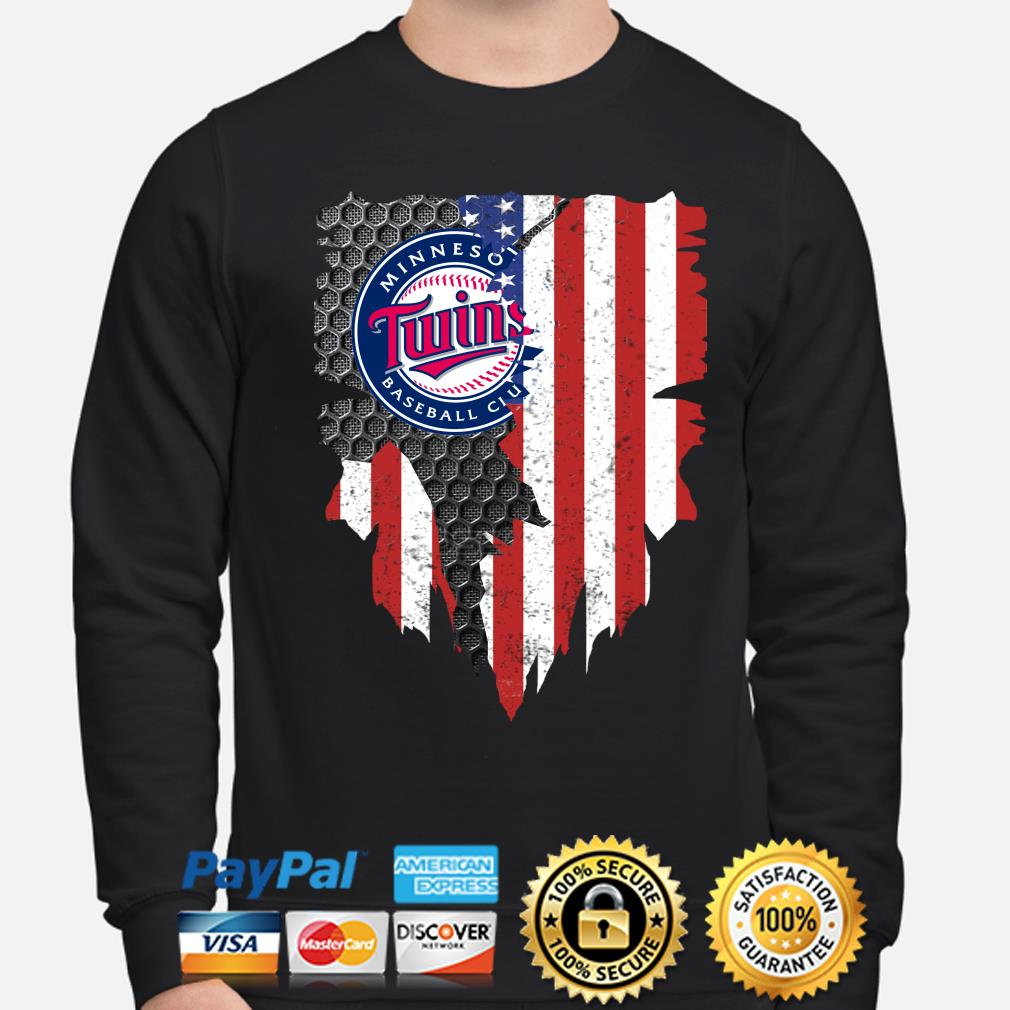 Minnesota Twins Inside American Flag Shirt sweater