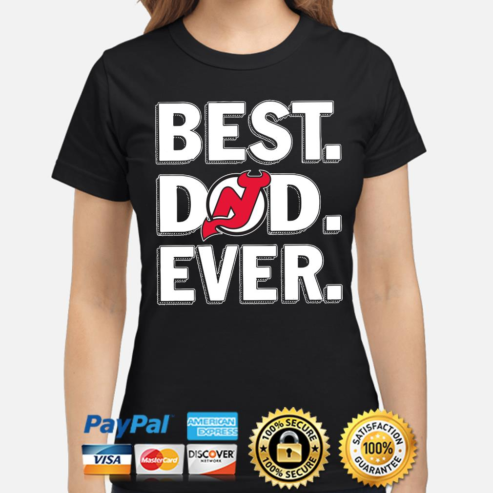 New Jersey Devils Best Dad Ever s ladies-shirt