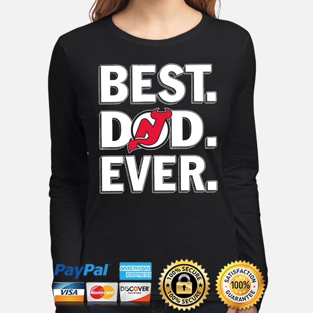 New Jersey Devils Best Dad Ever s long-sleeve