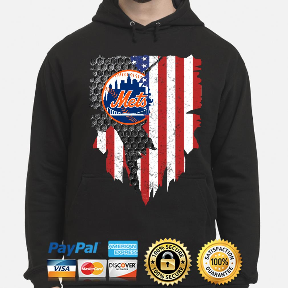 New York Mets Inside American Flag Shirt hoodie