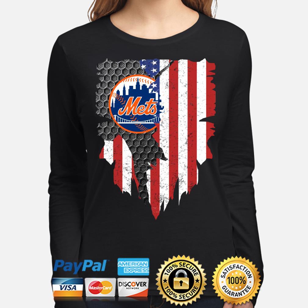 New York Mets Inside American Flag Shirt long-sleeve