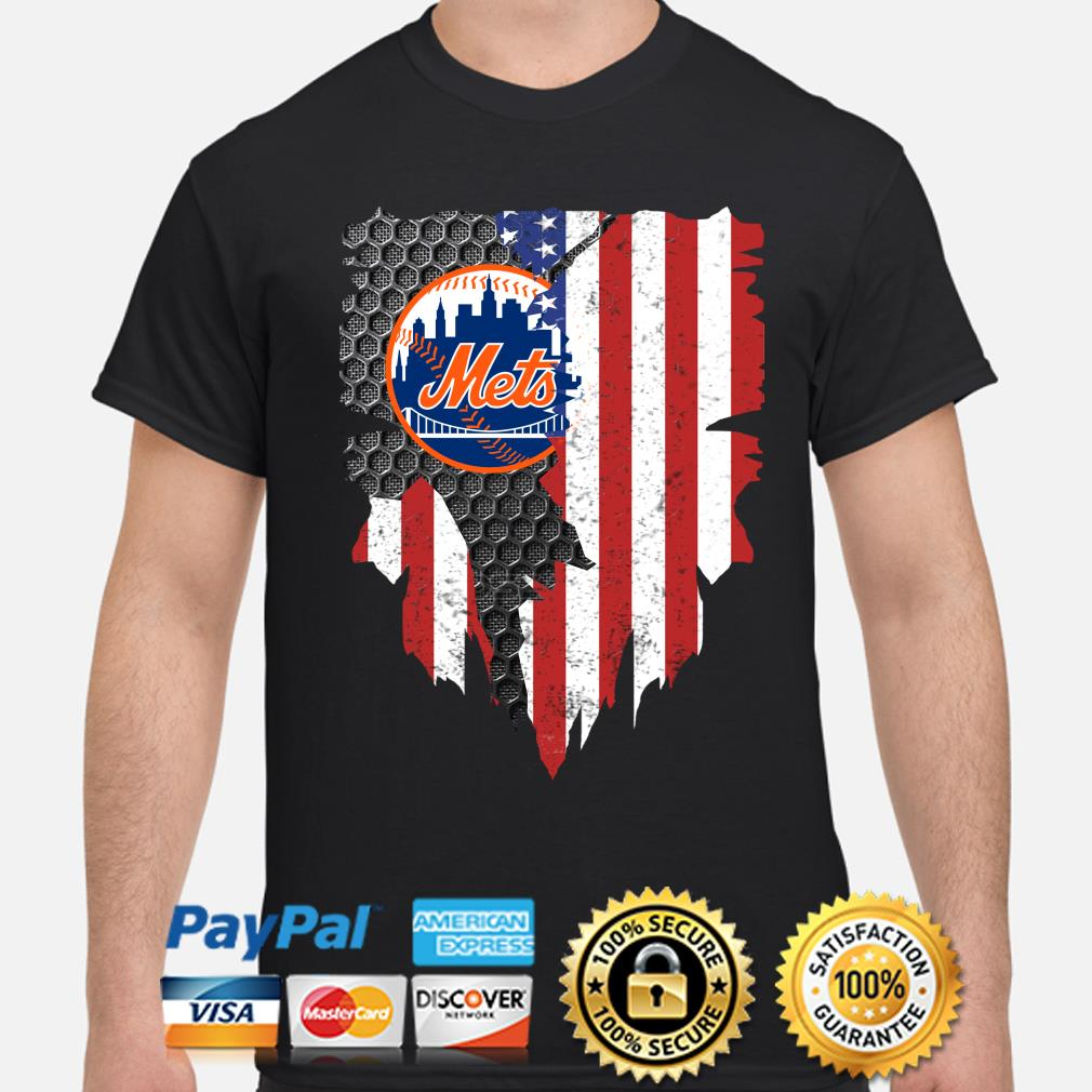 New York Mets Inside American Flag Shirt