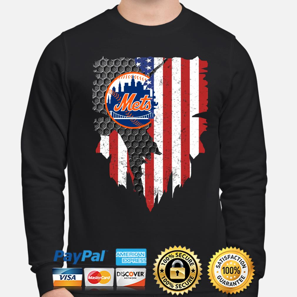 New York Mets Inside American Flag Shirt sweater