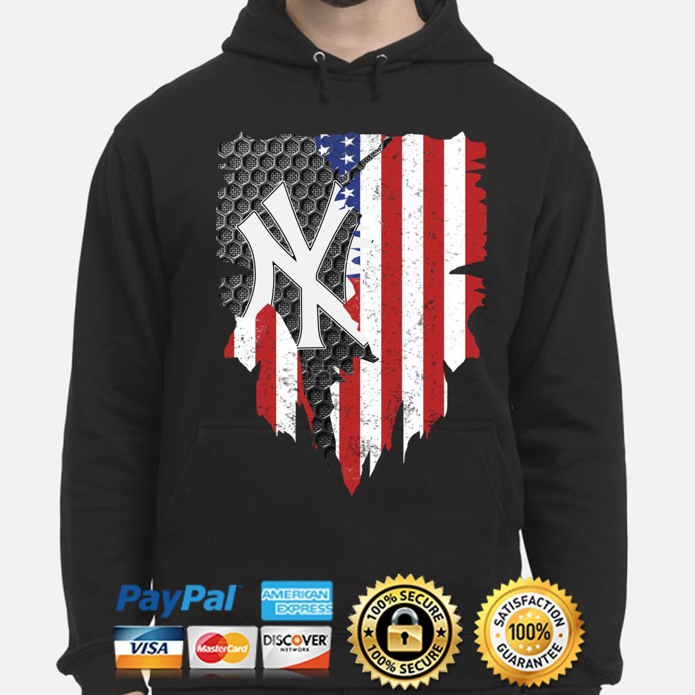 New York Yankees Inside American Flag Shirt hoodie
